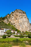 Cliffs of Arco di Trento - Trentino Italy Stock Images