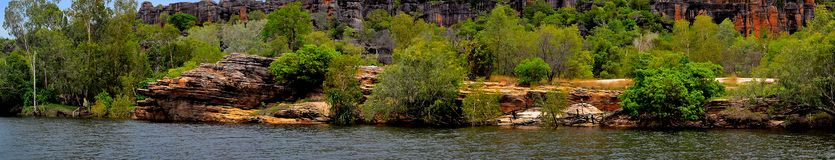 Cliffs in arnhem land. From the east alligator river Royalty Free Stock Photography