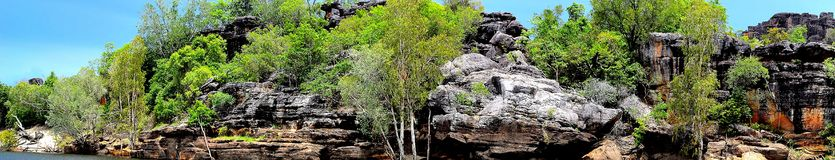 Cliffs in arnhem land. From the east alligator river Royalty Free Stock Photo