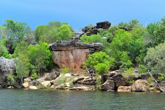 Cliffs in arnhem land. From the east alligator river Stock Photos