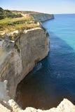 Cliffs around Fomm ir-Rih in Malta. Stock Images