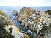 Cliffs in Asturias Stock Images