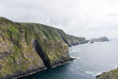 Cliffs on the Atlantic Ocean in Ireland on the Ring of Kerry stock image