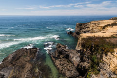 Cliffs of the Atlantic Ocean in Portugal Royalty Free Stock Images