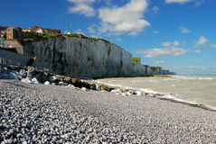 Cliffs in Ault, France. Cliffs in Ault, Baie de la somme, France, in front of Great-Britain Stock Photography