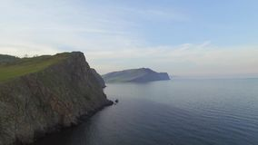 Cliffs of Baikal lake stock footage