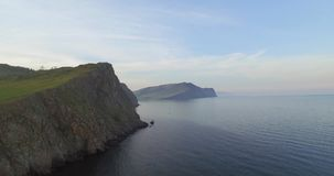 Cliffs of Baikal lake stock video footage
