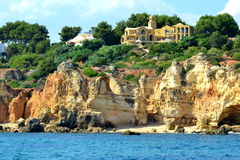 Cliffs Baleeira, Albufeira in the Algarve Royalty Free Stock Photo