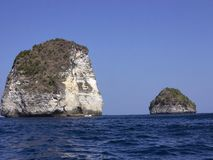 Cliffs in Balinese sea, Nusa Penida in Indonesia Stock Photo