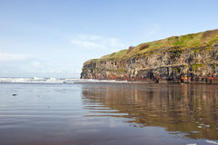Cliffs of Ballybunion with reflection Stock Image