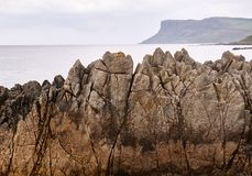 Cliffs in Ballycastle, Antrim. Cliffs in Ballycastle, County Antrim, Northern Ireland Stock Image