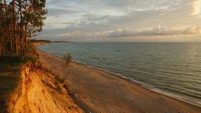 Cliffs and the Baltic Sea and beautiful evening Stock Photography