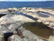 Cliffs. By The Baltic sea close to Öregrund Royalty Free Stock Images
