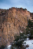 Cliffs of Bandelier National Monument Royalty Free Stock Photos