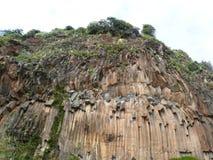 Cliffs of Basalt Organ in Faial Stock Photo