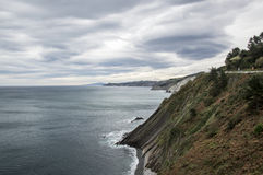 Cliffs on the Bay of Biscay. In pais vasco, spain Stock Photos