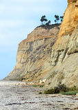 Cliffs on a beach. A shot of steep cliffs on Torrey Pines beach in San Diego Stock Photography