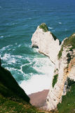 Cliffs and beach of Etretat Stock Images