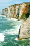Cliffs and beach of Etretat Royalty Free Stock Photography