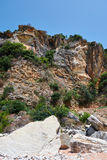 Cliffs. On the beach near Petrovac town, Montenegro royalty free stock image