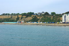 Cliffs and beach at Sandown Stock Image