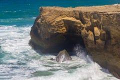 Cliffs on the beach,  Vila Nova de Milfontes. Alentejo, Portugal Stock Image