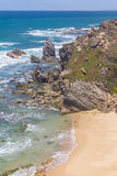 Cliffs on the beach,  Vila Nova de Milfontes. Alentejo, Portugal Stock Photography
