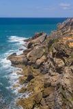 Cliffs on the beach,  Vila Nova de Milfontes. Alentejo, Portugal Stock Photos