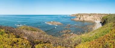 Cliffs on the beach Vila Nova de Milfontes. Alentejo Portugal Stock Images