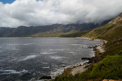 Cliffs and Beaches along a Coastal Road, Garden Route Stock Photos