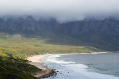 Cliffs and Beaches along a Coastal Road, Garden Route Stock Photo