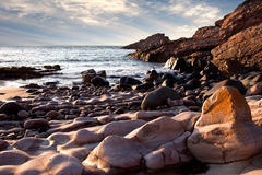 Cliffs and Beaches at Frehel Stock Image