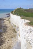 Cliffs at Beachy Head and Seven Sisters Stock Image