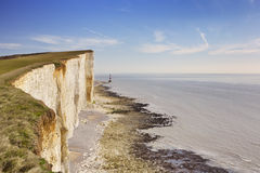 Cliffs at Beachy Head on the south coast of England Royalty Free Stock Photo