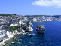 Cliffs. Beautiful limestone cliffs above the blue sea Royalty Free Stock Images
