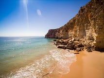 Cliffs of Beliche Beach, Saint Vincent Cape, Portugal Stock Photography