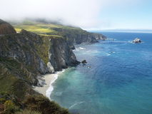 Cliffs  on Big Sur coastline  Royalty Free Stock Image