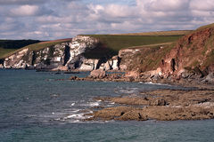 Cliffs at Bigbury, Devon, UK. Picture of the cliffs at Bigbury, Devon, UK Stock Image