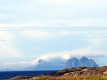 Cliffs. Blue cliffs at Lofoten Norway Royalty Free Stock Photo