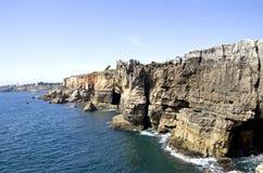 Cliffs of Boca de inferno in Cascais Royalty Free Stock Image