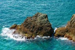 Cliffs in Bonassola - Liguria - Italy Stock Images
