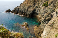 Cliffs in Bonassola - Liguria - Italy Royalty Free Stock Photos