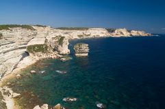 Cliffs of the Bonifacio Stock Images