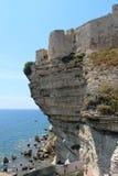 The cliffs of Bonifacio royalty free stock photos