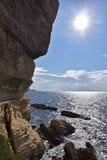 Cliffs of Bonifacio, Corsica Stock Image