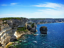 Cliffs at Bonifacio Royalty Free Stock Photos