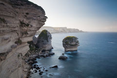 Cliffs of Bonifacio in the morning, Corsica, France Royalty Free Stock Photography