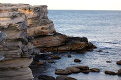 Cliffs of Botany Bay Stock Images
