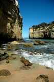 Cliffs with Breaking Waves Stock Image