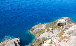 Cliffs. Breaks in the sea near Petrovac town, Montenegro Stock Photo